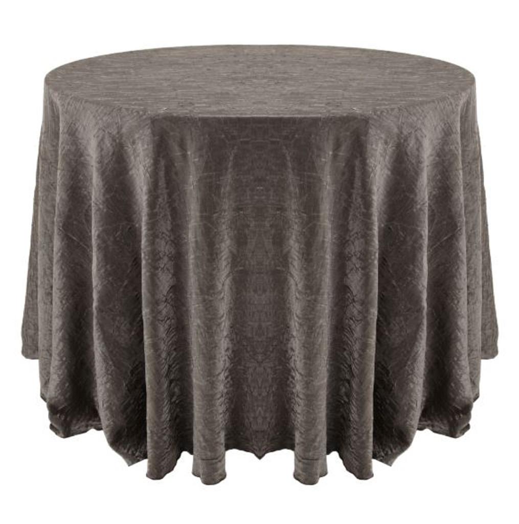 Shimmer Crush Fabric Tablecloth Linen-Silver Black