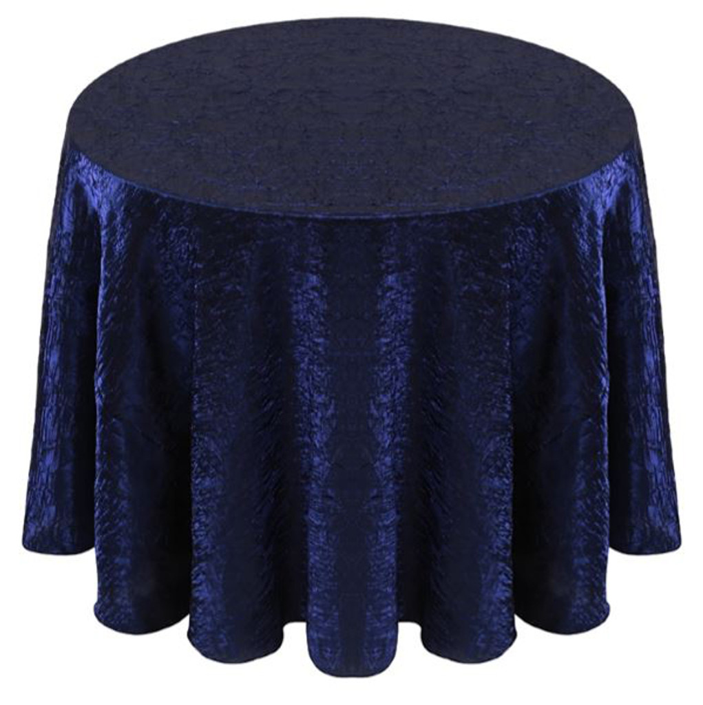 Shimmer Crush Fabric Tablecloth Linen-Royal Black