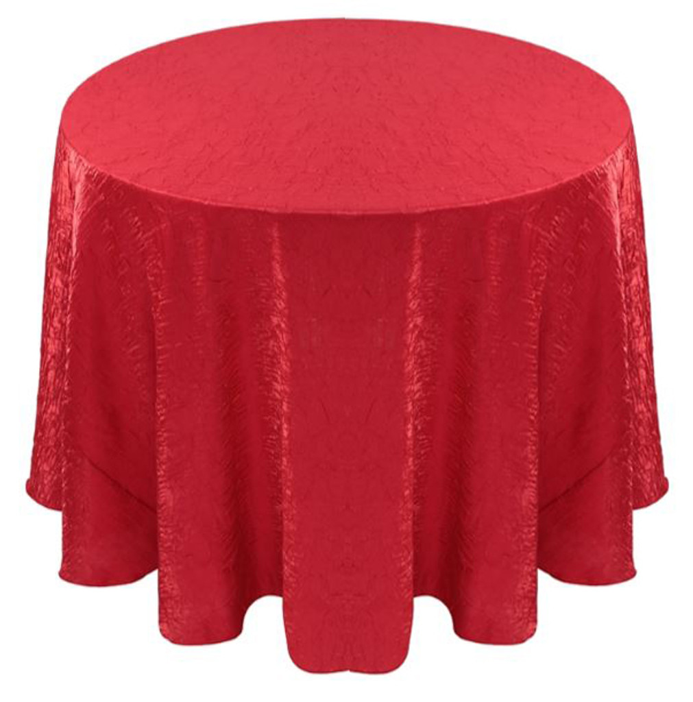 Shimmer Crush Fabric Tablecloth Linen-Red