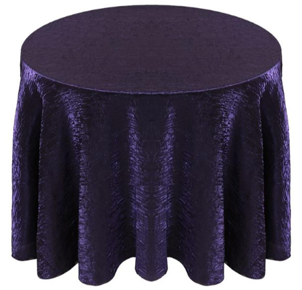 Shimmer Crush Fabric Tablecloth Linen-Purple Black