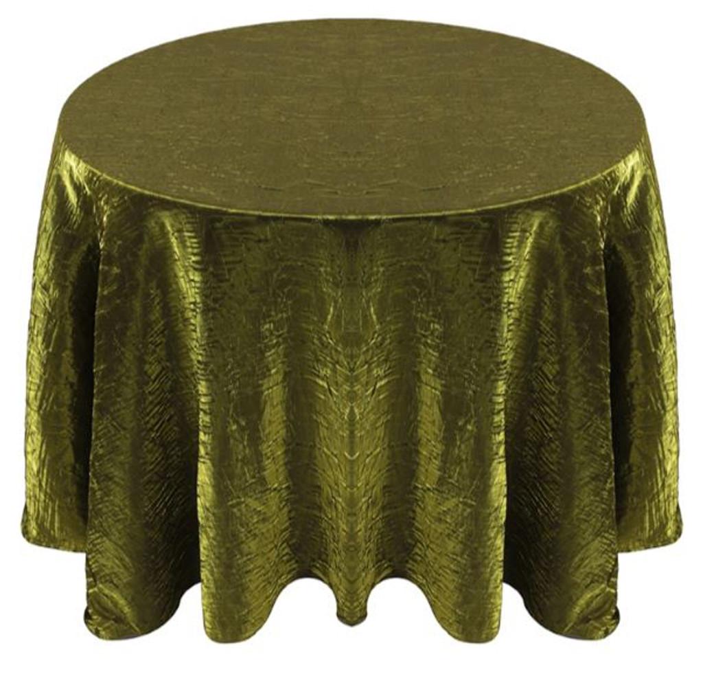 Shimmer Crush Fabric Tablecloth Linen-Moss