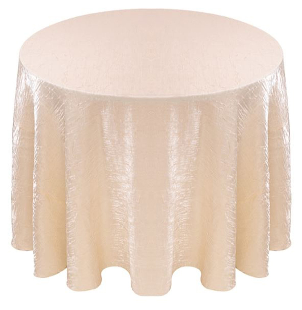 Shimmer Crush Fabric Tablecloth Linen-Ivory