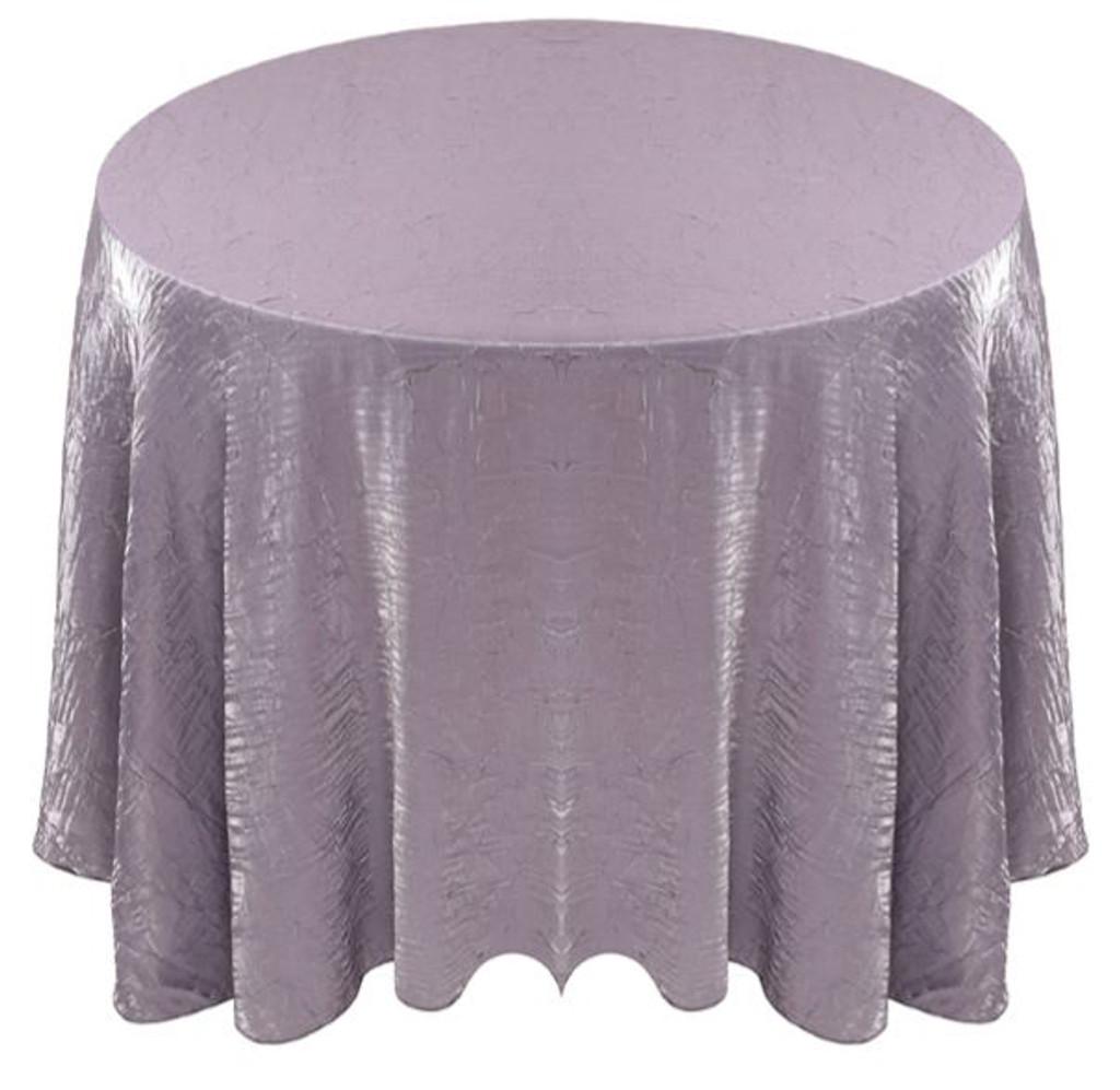 Shimmer Crush Fabric Tablecloth Linen-Grey