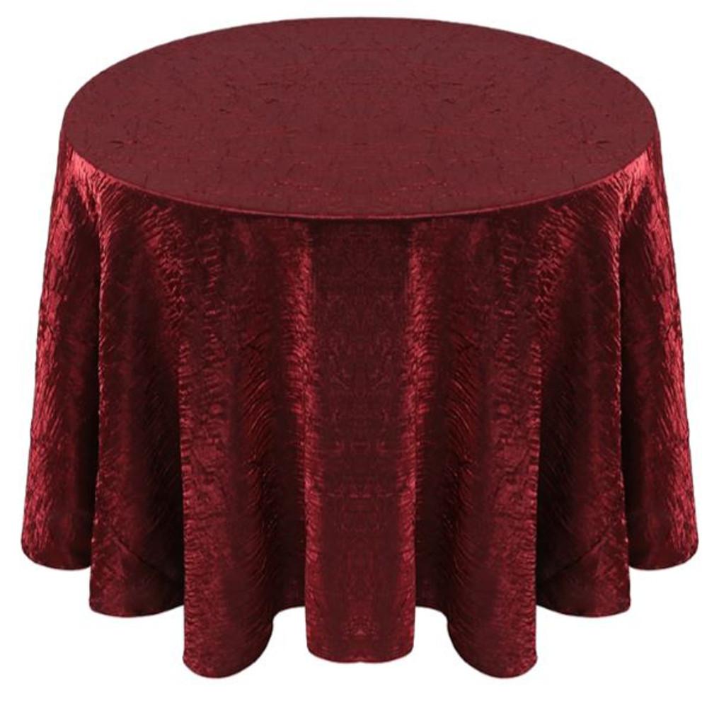 Shimmer Crush Fabric Tablecloth Linen-Burgundy Black