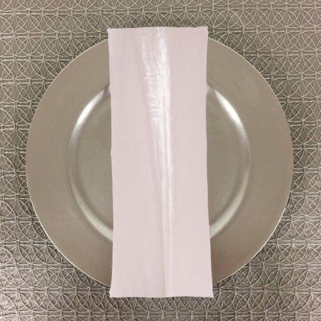 Dozen (12-pack) Shimmer Crush Fabric Table Napkins-White