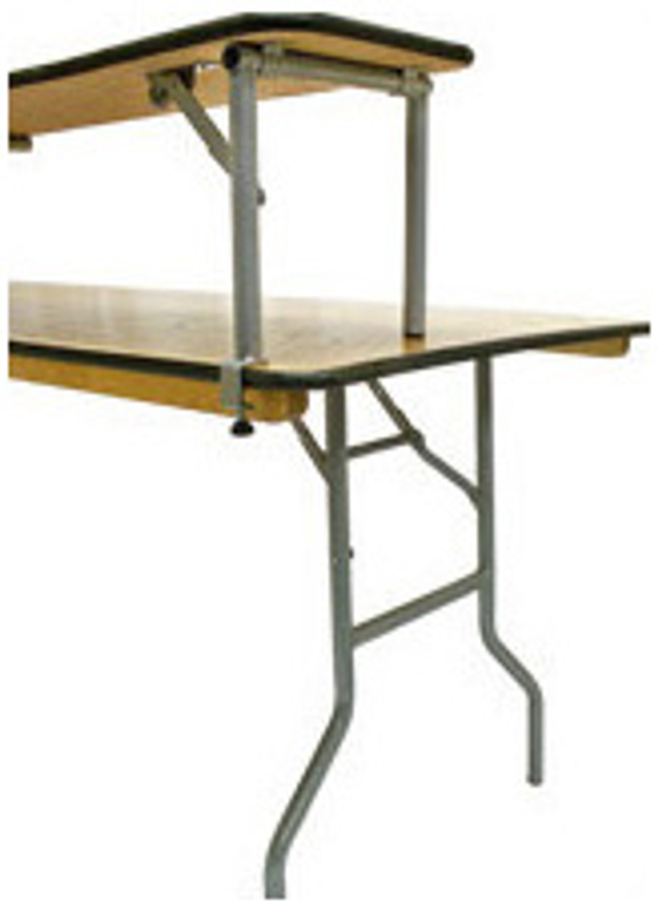 ... 6FT Portable Bar Top Riser Bundle   Includes Table, Riser, Skirting,  And Clips