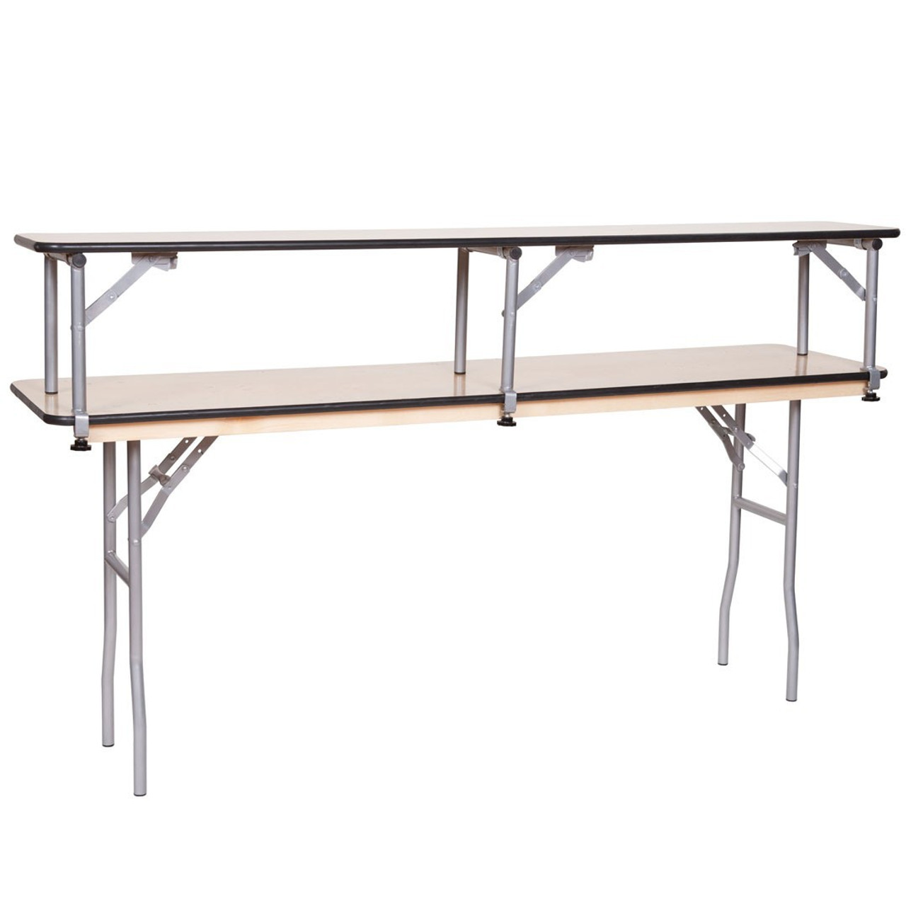 ... 6FT Portable Bar Top Riser Bundle   Includes Table, Riser, Skirting,  And Clips ...