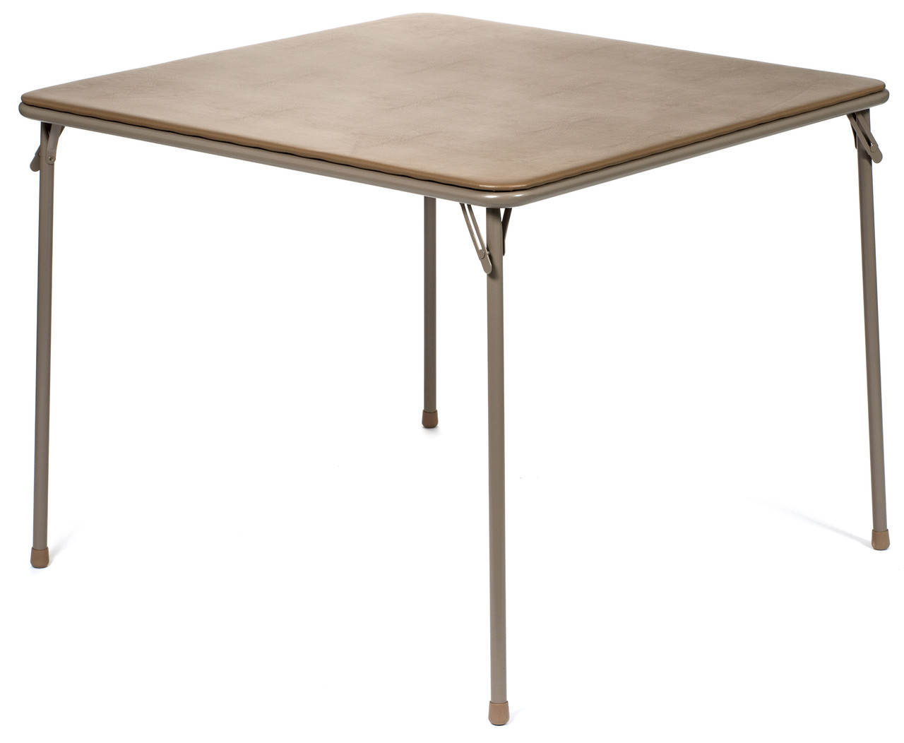 5pc XL Series Folding Card Table and Fabric Padded Chair Set, Beige ...