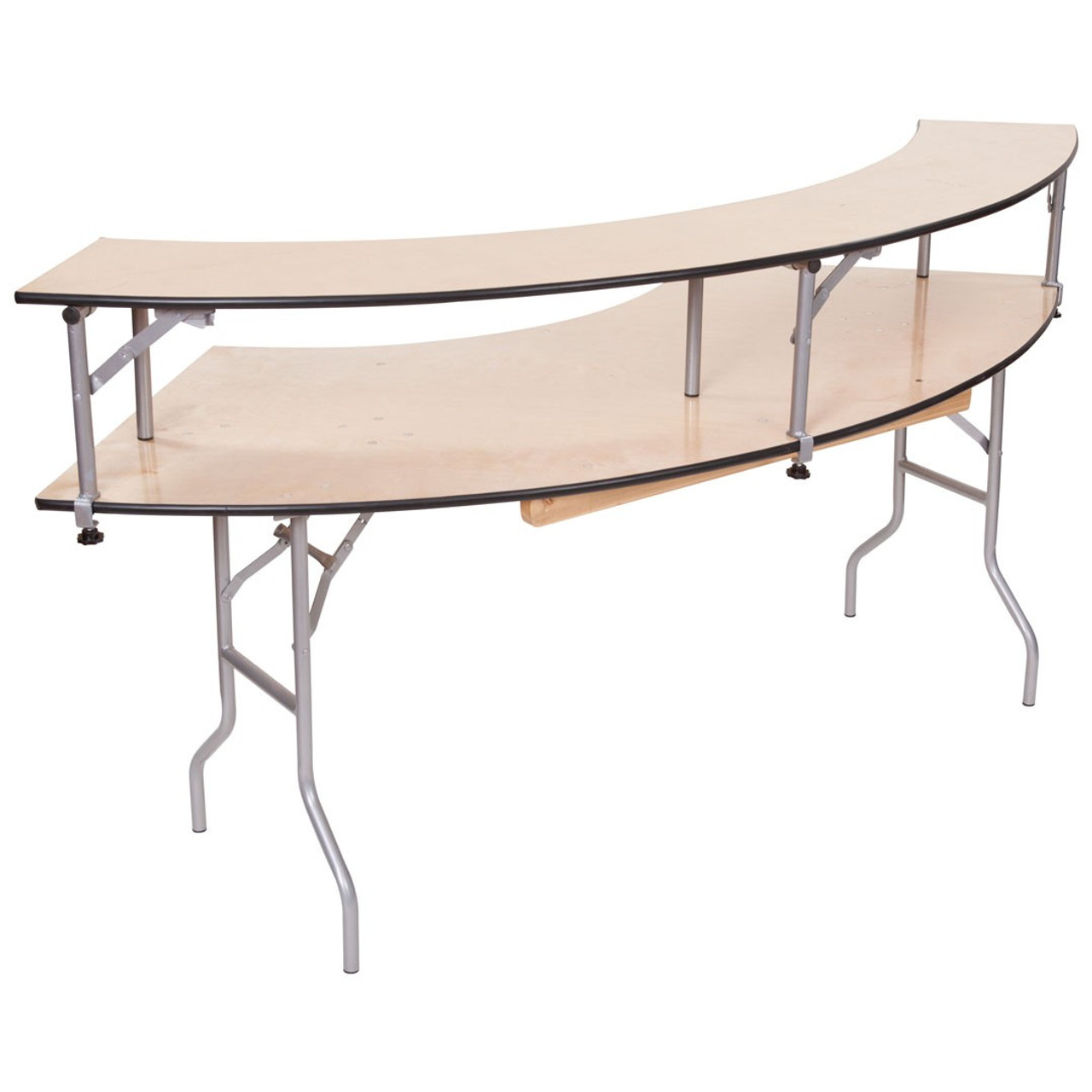 Superieur Classic Series 5u0027 Portable Serpentine Table With Bar Top ...