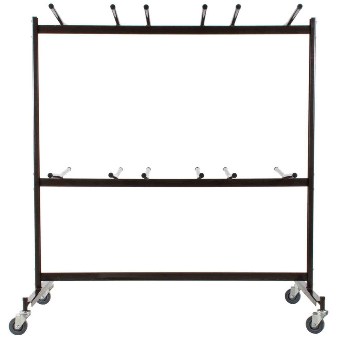 84 capacity hanging folding chair storage cart by national public seating - National Public Seating
