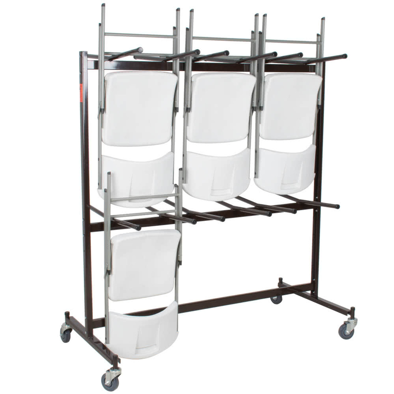 84 Capacity Hanging Folding Chair Storage Cart By National Public Seating  ...