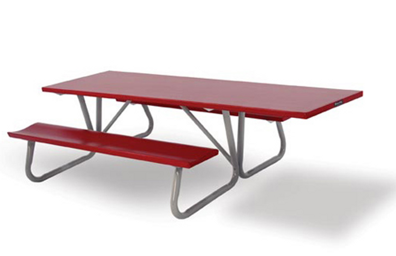 Southern PikNik X Handicapped Accessible Deluxe Aluminum - 96 picnic table