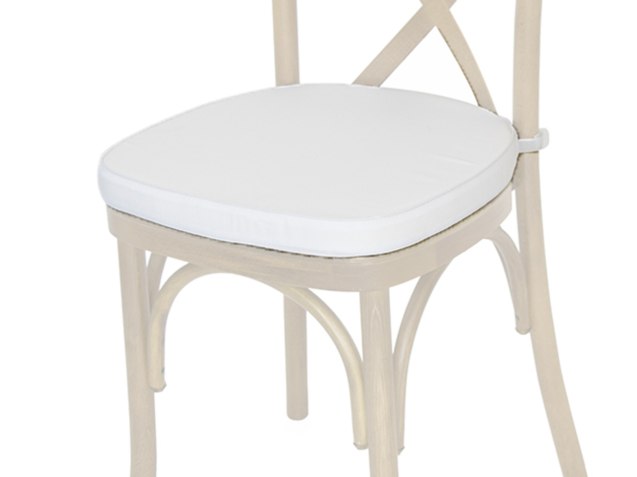 ... Polyester Cross Back Chair Cushion White ...