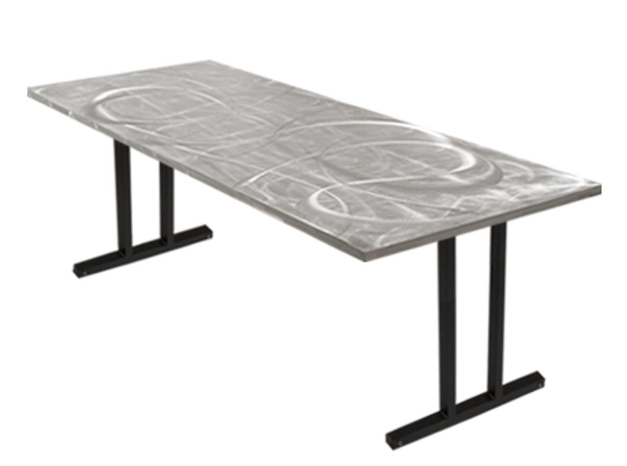 swirl banquet aluminum folding table - foldingchairsandtables