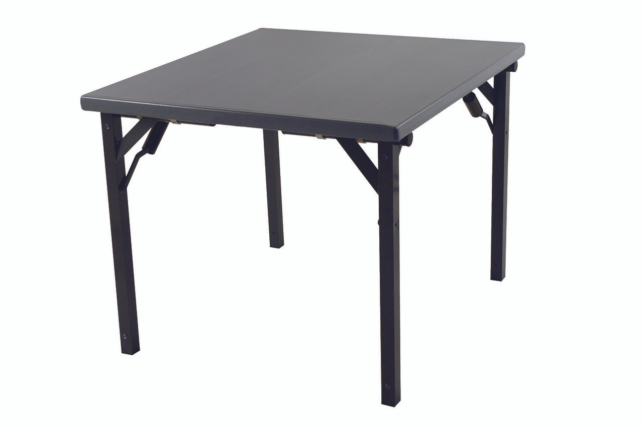 Alulite Aluminum Card Table With Individual Folding Legs Mineral Bronze ...