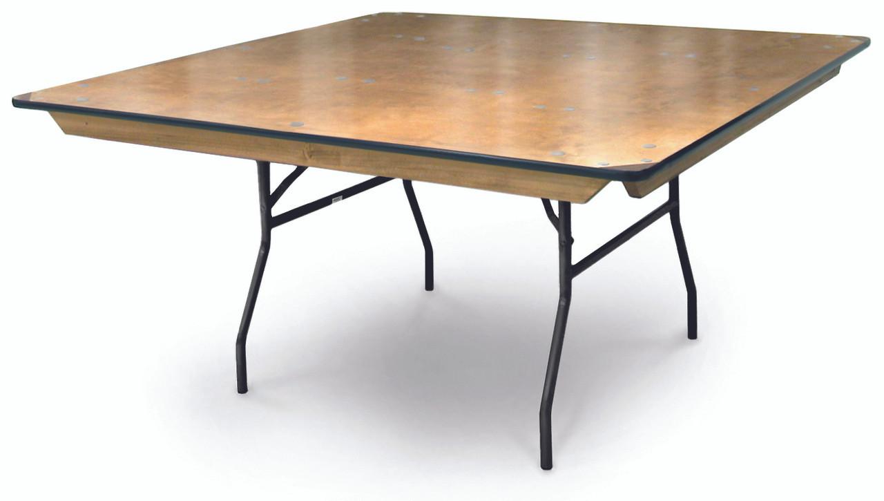 ProRent Plywood Square Folding Table USA Made (MC PR SQUARE) ...