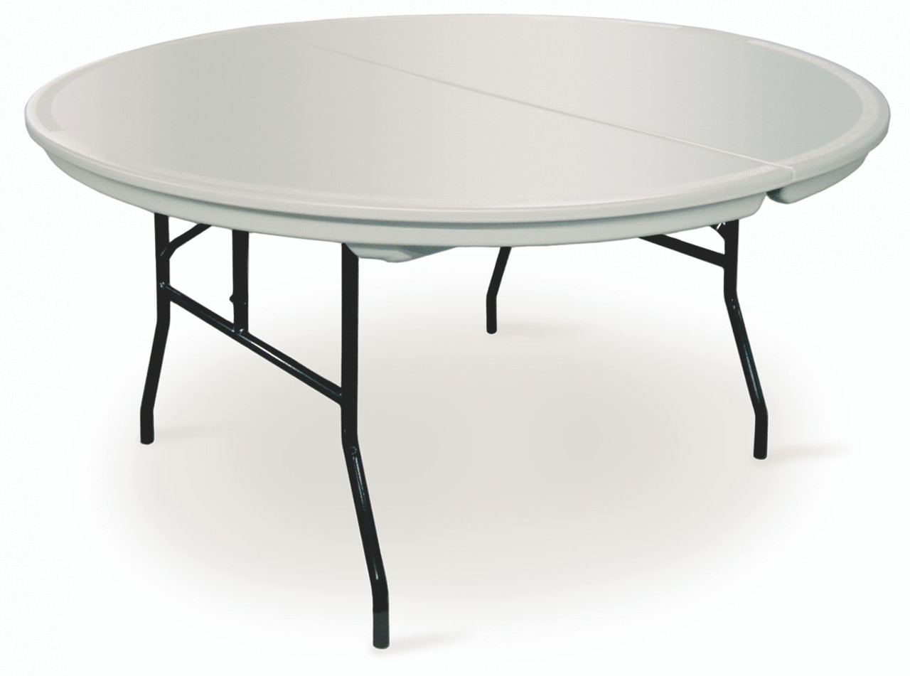 Etonnant Commercialite Round Plastic Folding Table USA Made (MC C ROUND) ...