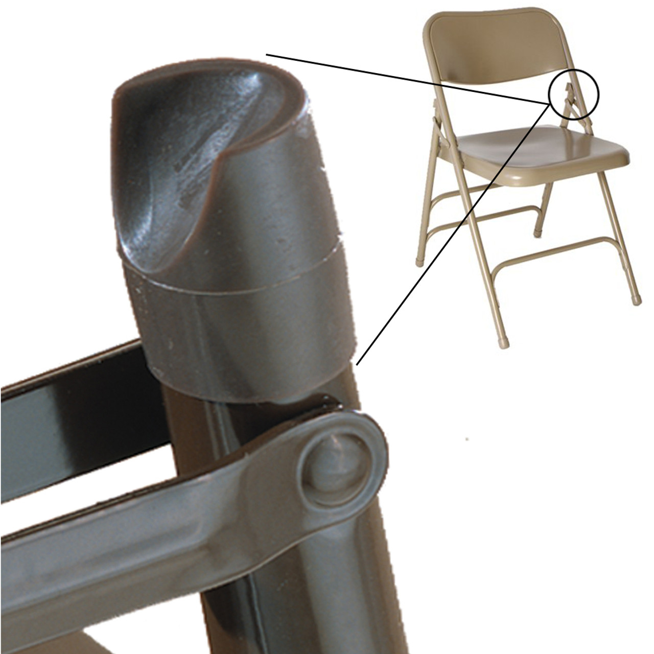 Attirant ... Individual Pieces   Plastic Stability Caps For Metal And Padded Folding  Chairs, Fits 7/ ...
