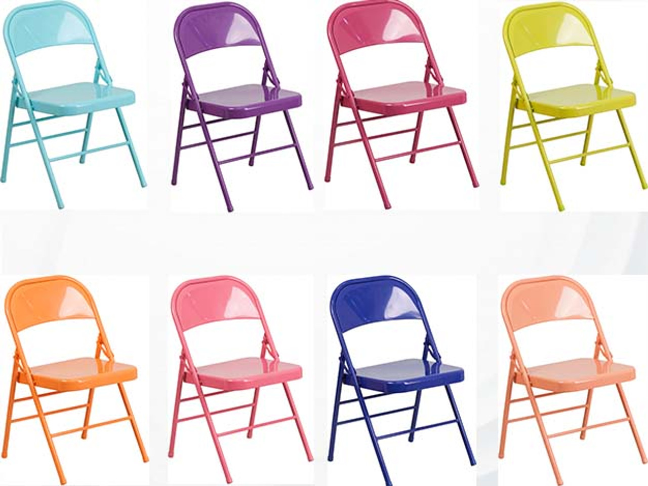 Hercules Colorburst Series Triple Braced U0026 Double Hinged Metal Folding Chair  ...