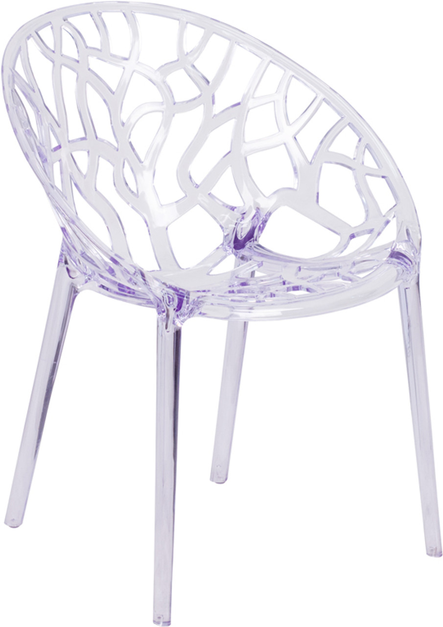 Specter Series Transparent Stacking Side Chair ...
