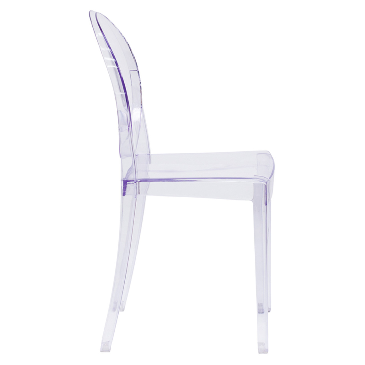 ... Louis XVI Transparent Crystal Ghost Side Chair