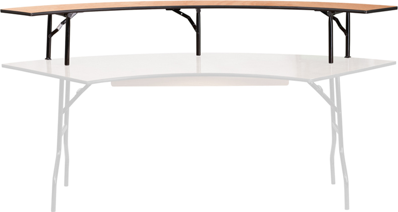 Luan Serpentine Bar Top Riser