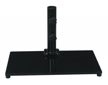 Galtech 40 lb. Premium Cast Iron Square Stand For Half Wall Umbrellas, Model 040SQ