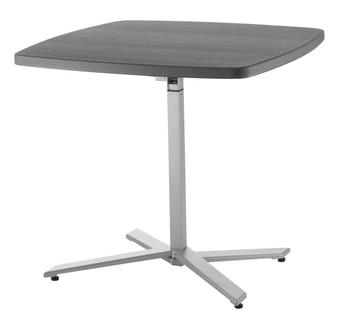 """Cafe Time 36"""" Square Adjustable Table By National Public Seating"""