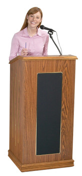 The Prestige Lectern With Sound By Oklahoma Sound (OK-711) Medium Oak
