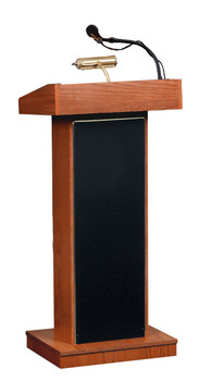 The Orator® Standard Height Lectern By Oklahoma Sound (OK-800X) Cherry