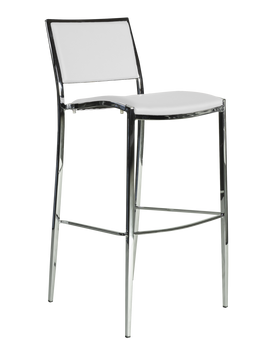 Premier Series White Bella Steel Barstool