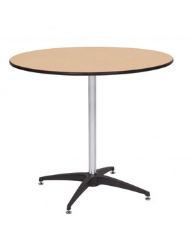 "Premier Series 36"" Round Wood High Top Cocktail Table with Self-Leveling Glides"