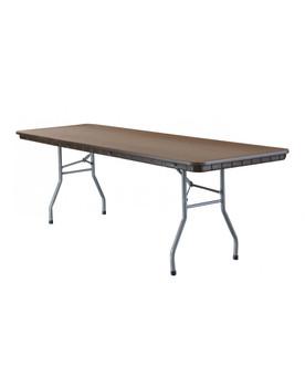 "Rhino 30""W x 96""L Brown Plastic Folding Banquet Tables"