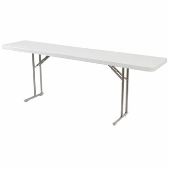 "Body Builder 18""W x 72""L (6 ft) Seminar Training Plastic Folding Table By National Public Seating, Model BT-1872"