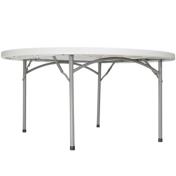 "Body Builder 60"" (5 ft) Round Plastic Folding Table By National Public Seating, Model BT-60R"