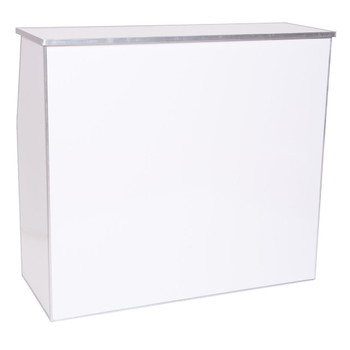 "Premier Series Portable Folding Bar - 48"" Wide - White Laminate"