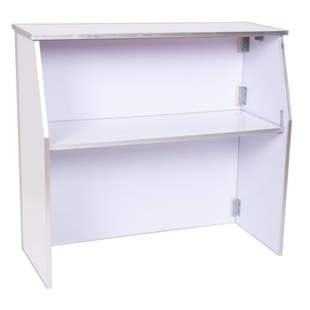 "Premier Series Portable Folding Bar - 48"" Wide - White Laminate (PR3858)"