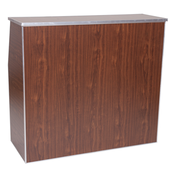"Premier Series Portable Folding Bar - 48"" Wide - Walnut Laminate"