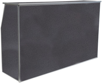 "Premier Series Portable Folding Bar with Storage Bag - 72"" Wide - Black Marble Laminate"