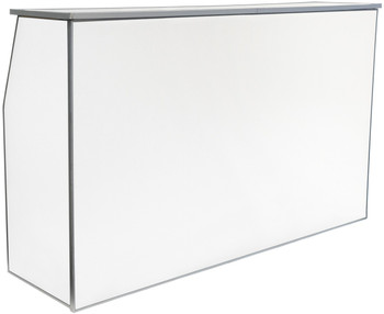 "Premier Series Portable Folding Bar with Storage Bag - 72"" Wide - White Laminate"
