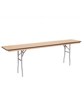 """Premier Series 18""""W x 96""""L (8FT) Russian Birch Wood Seminar Folding Table"""