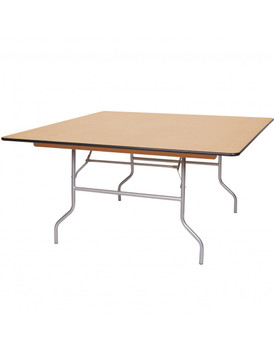 "Premier Series 48""W x 48""L (4FT) Square Wood Banquet Folding Table"