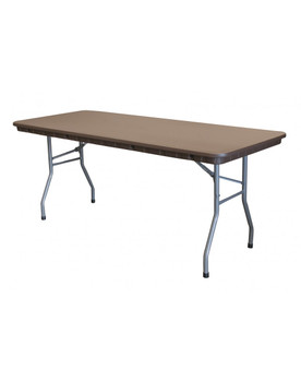 "Rhino 30""W x 72""L Brown Rectangular Plastic Folding Banquet Tables"