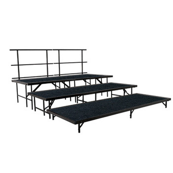 Carpeted Multi-Level Portable Performance Stage Set By National Public Seating (NP-SSTC)
