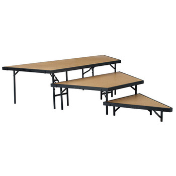 3-Level Portable Performance Stage Set With Hardboard Surface By National Public Seating (NP-SPSTHB)