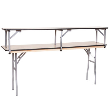 8FT Portable Bar Top Riser Bundle - Includes Table, Riser, Skirting, and Clips