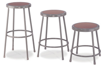 6200 Series Round Science Lab Stool with Hardboard Seat by National Public Seating
