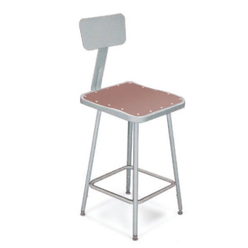 "24"" High Square Science Lab Stools With Optional Backrest"