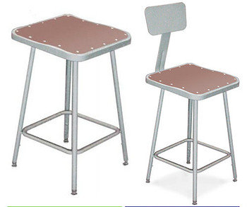 Square Science Lab Stool With Optional Backrest By National Public Seating