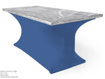 Rectangular Spandex Table Skirting for Aluminum Tables